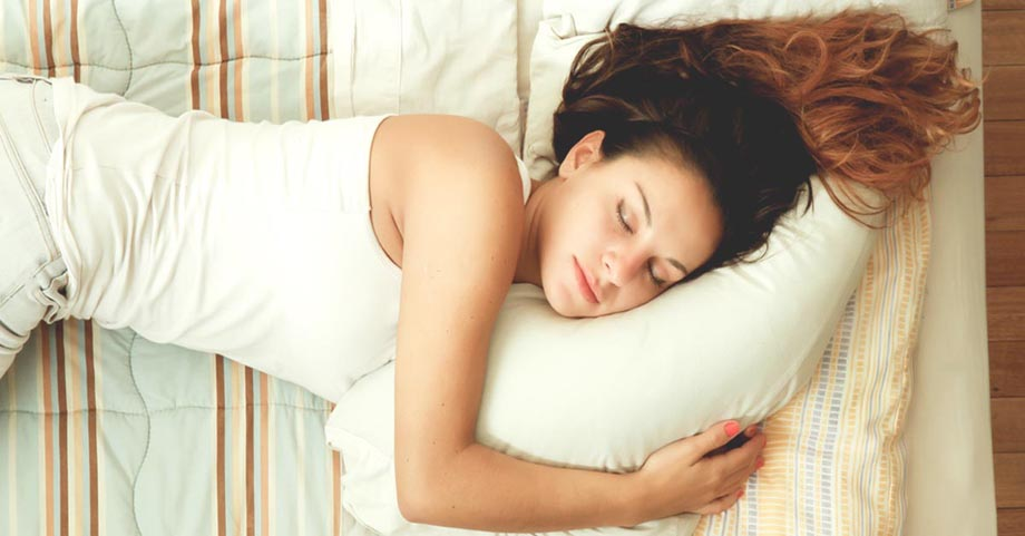 Image of a woman sleeping