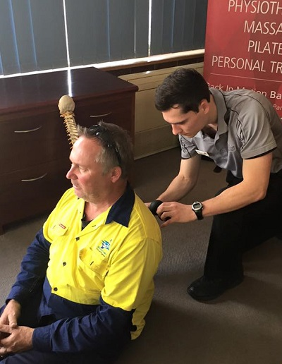 Back In Motion Bankstown physio Daniel in the community